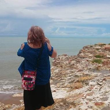 Tracey at Nightcliff Beach, Darwin, NT, Australia 2017