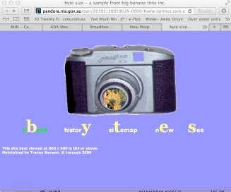 Front page Bytetime 2001