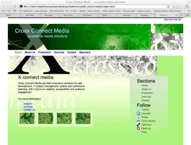 Front page X-Connect Media