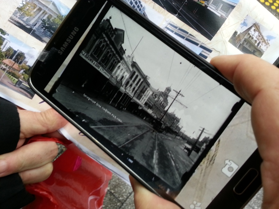 """Documentation of """"Finding the Ghosts of K Road"""" © Tracey Benson 2014"""