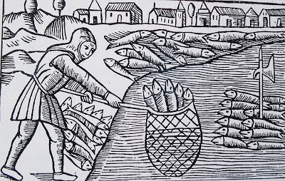 Fishing for Herring, Olaus Magnus, Historia de Gentibus Septentrionalibus, 1555