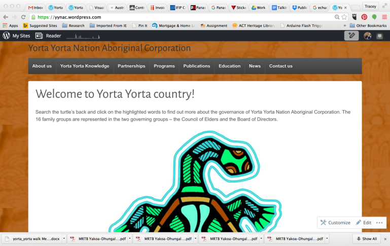 YYNAC website front page