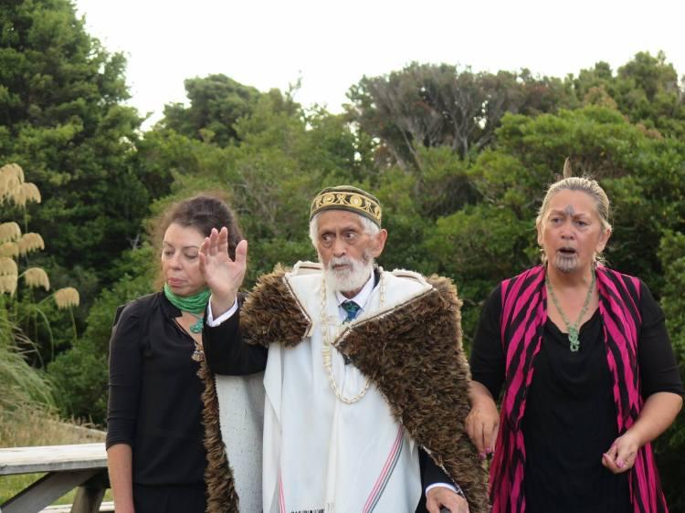 Taranaki Elders-Te Huirangi Waikerepuru, Te Urutahi Waikerepuru and Kura Puke