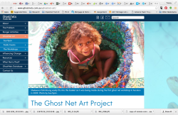 Screen shot from Ghost Nets website