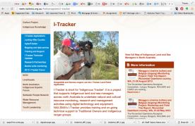 Screen shot from i-Tracker website