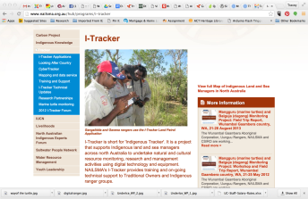 Screen shot from i-Tracker website