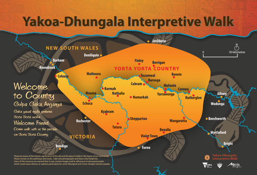 Welcome to country - map of Yorta Yorta country