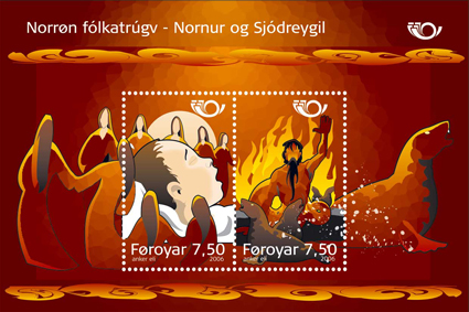 Faroese stamps - the Norns 2006