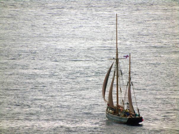 Johanna TG 326 sailing from Tórshavn to Nolsoy. Photo by Ingi Sørensen