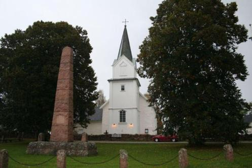 Hurum Church from http://www.kirkesok.no/kirker/Hurum-kirke