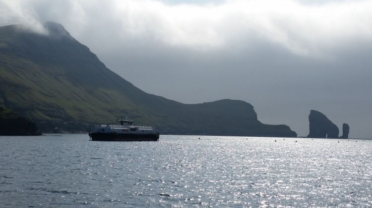 On the ferry to Mykines with The Clipperton Project crew, Photo by Tracey Benson ©
