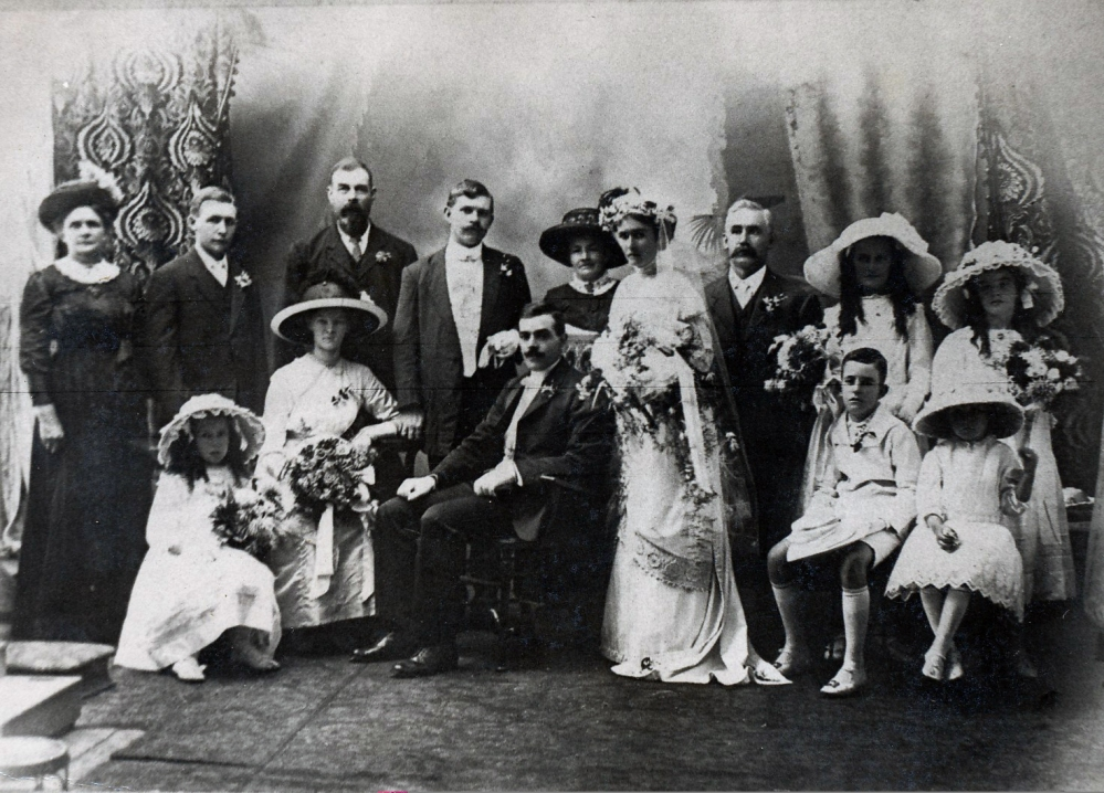 Wedding photography - Johan Friederick Benson and Eleanor Emmerson 1913.