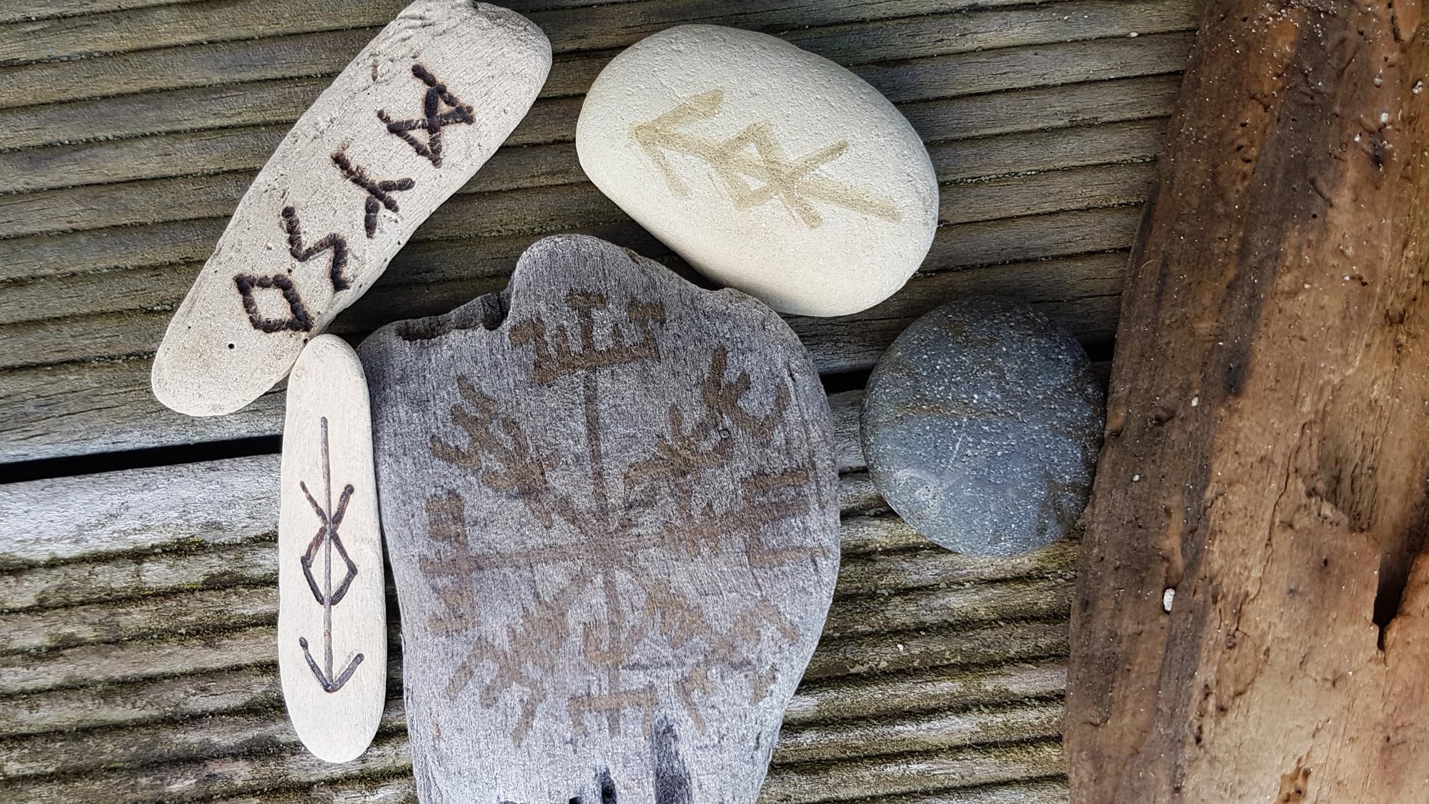 Stone and Wood Runes © Tracey Benson 2017