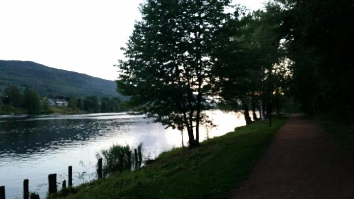 Twilight on the river Hurum Kirke © Tracey M Benson    bytetime