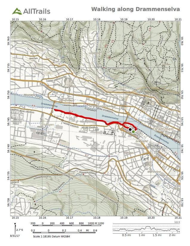 Map of river walk