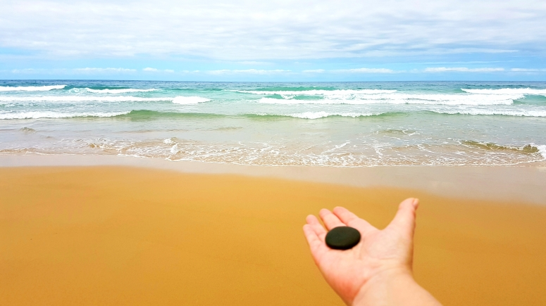 A stone gifted by the ocean @ Tracey M Benson 2017