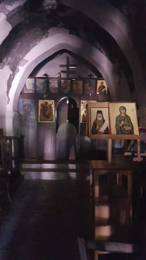 Inside the chapel on the hill