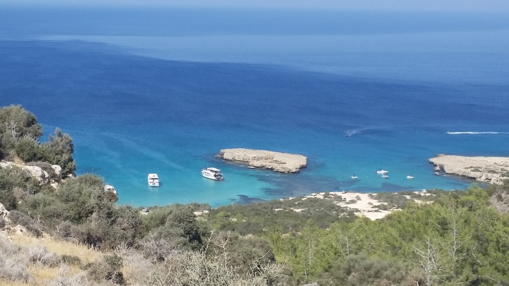 Aphrodite's Rock - view from the trail.