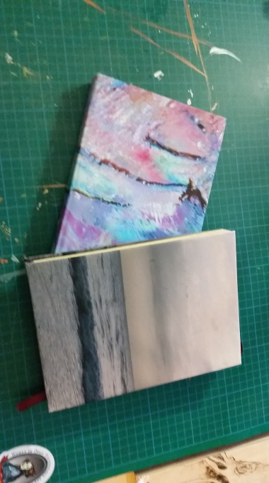 Making books from materials at home