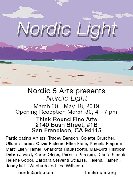 Poster for Nordic Light exhibition in San Franscisco