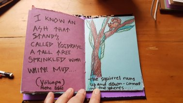 "Tracey's Yggdrasil book for ""The Silence: Puanga"""