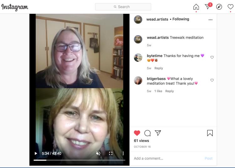 WEAD Instagram screenshot with Anna Vaughan